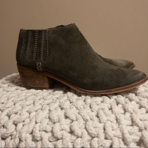 Dolce Vida Gray Suede Ankle Bootie